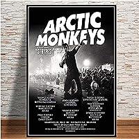 MKAN キャンバスの壁の写真、絵画ポスターおよび版画北極猿の音楽バンドの引用ポスター、家の装飾のための壁の芸術の写真50X75Cm