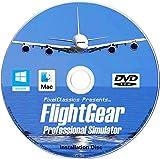 Flight Simulator 2020 X Flight Sim Plane & Helicopter FlightGear Including 600+ Aircraft DVD CD Disc For Microsoft Windows 10 8 7 Vista PC & Mac OS X