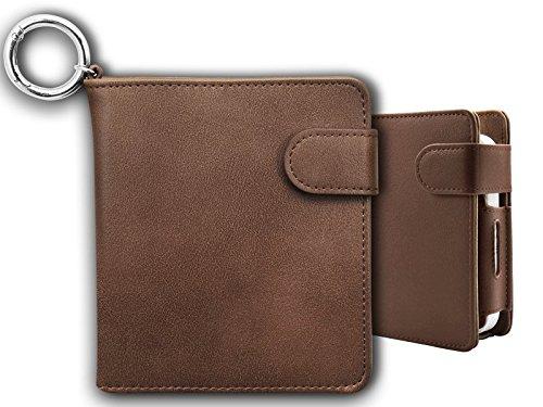 iQOS アイコス ケース 手帳型 財布型 (Brown) 2.4Plus対応 ヒートスティック クリーナー アイコスケース 収納ケース カバー 電子タバコ たばこ 財布代わり