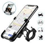 WACCET Support Telephone Vélo, Support Telephone Scooter avec 360°Rotation pour iPhone XR, iPhone...