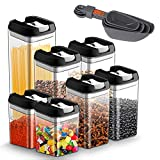 Recipientes para Cereales de alimentos Juego de 7 piezas, JOLVVN Contenedor de almacenamiento sin BPA Latas de almacenamiento con hermética