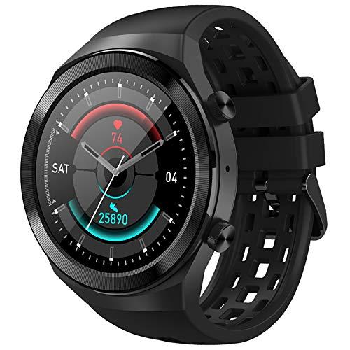 INDYGO Q8 Smartwatch Hombres Mujeres 600Mah 2021 1.3 Pulgadas IPS Pantalla Bluetooth Llamada Impermeable ECG Frecuencia Cardíaca Relojes Fitness (negro)