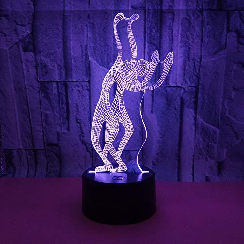 Golf 3D-licht Visuele Usb 3D-tafellampen voor de woonkamer Deco Nightlight 7 kleurverandering babykamer bureaulamp