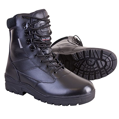 Kombat UK Men's All Leather Patrol Boots, Black, 9 UK (43 EU)
