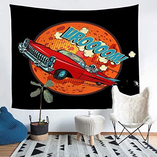 Tapiz de astronauta para niñas y niños Cosmonauta eléctrico para colgar en la pared, manta de pared, decoración de habitación, vehículo espacial, Mar Planet ropa de cama, manta grande de 58 x 79 cm