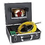 Cámara de inspección de tuberías, gasoducto de drenaje de tubería endoscopio industrial IP68 Boroscope con monitor de 10 pulgadas 1000 TVL DVR Cámara 30M / 100FT Cable