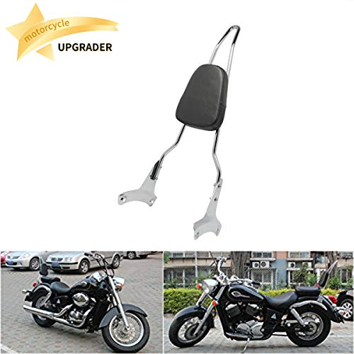 Backrest Sissy Bar Passenger Pad Compatible with/Replacement for Honda Shadow ACE 750 VT400 RC44 VT750C 1997-2003