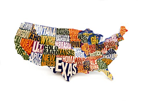 zamonji USA Karte Vereinigte Staaten von Amerika 3D Harz Handgemachtes Kühlschrank Magnete Tourist Geschenk