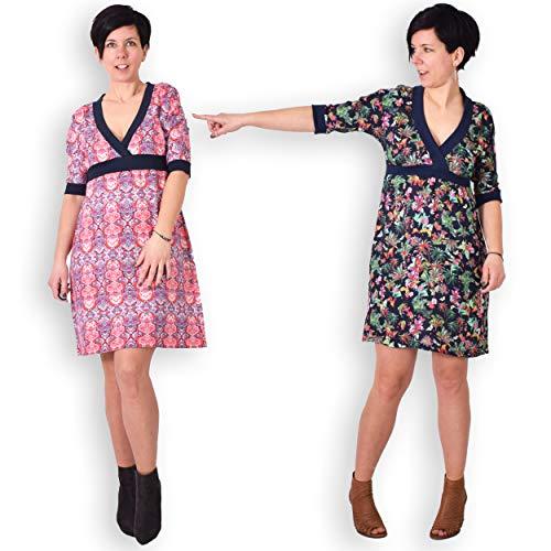 leni pepunkt Schnittmuster Damen Kleid in den Größen 32-58 zum Nähen mit Nähanleitung und 5 Webetiketten