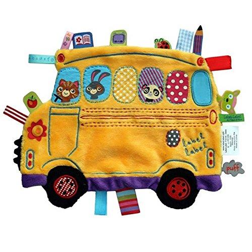 Label-Label-LL-HO1353 Holiday doudou Bus scolaire peluche