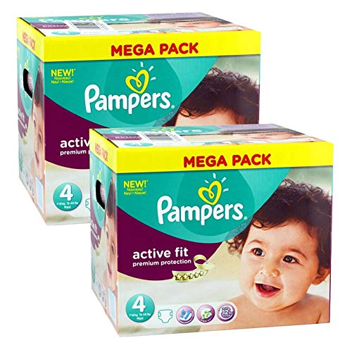 Couches Pampers - Taille 4 active fit premium protection - 840 couches bébé