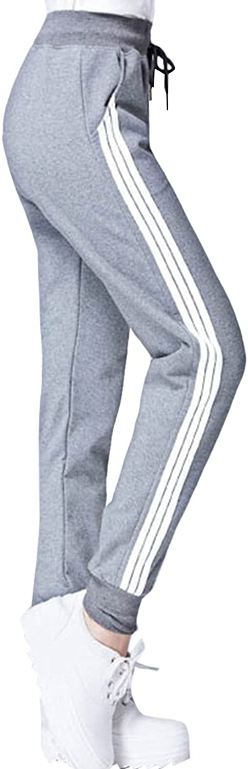 COCOLEGGINGS Womens Cotton Drawstring Elastic Waist Cuffed Jogger Sweatpants