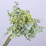 YYHMKB 3 Piezas Ramo de Gypsophila Flores Artificiales Flor Decorativa Falsa Planta Artificial Planta Verde para Boda hogar jardín decoración de Fiesta Verde