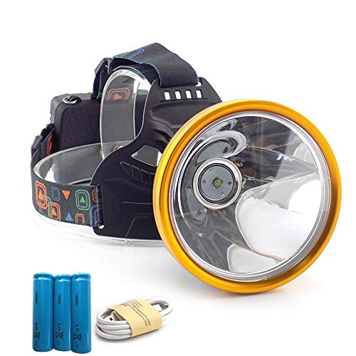 GSDJU Super Brillante,Recargable,Acampar,High Power Led Headlamp Flashlight USB Port Rechargeable Miner's Lamp T6 Head Light Torches Frontal Fishing Camping