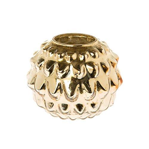 Riverdale Windlicht/Vase Vintage gold aus Glasvase - 17 cm - Dekoidee - Laternen - Weihnachten - Weihnachtsdeko - Geschenkidee - Blumenvase
