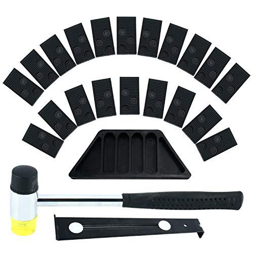 DasMarine - Kit di installazione per pavimenti in legno laminato con blocco di maschiatura, barra di trazione, battente e 20 distanziatori