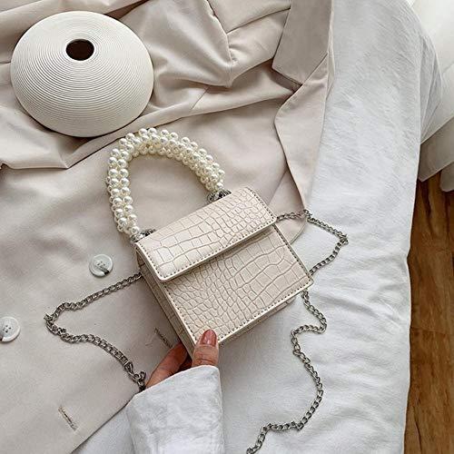PANZZ Crossbody Bags Women Summer Handle Lady Shoulder Sacs à Main, Beige, Mini