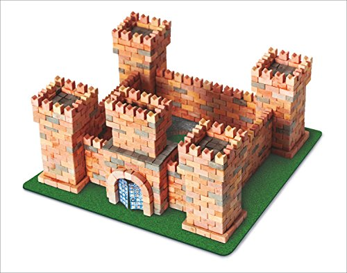 Wise Elk Toy Dragon's Castle Construction Set, Real Plaster Bricks, Gypsum Reusable Building Kit, 1080 Piece