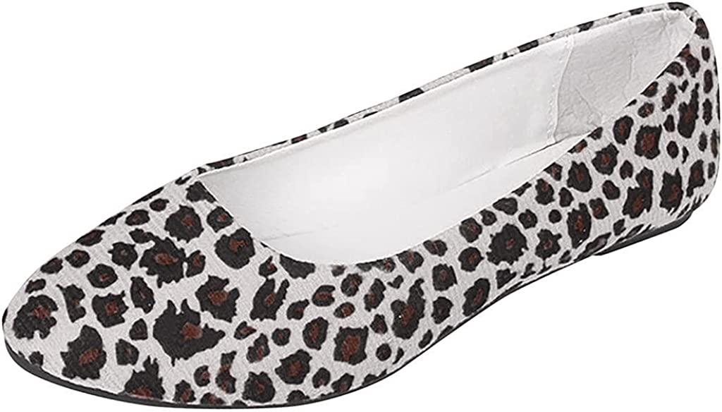 GNiwerb Suede Pointed Toe Slip On Max 47% OFF Office Ballet Sacramento Mall Flats Classic Fl