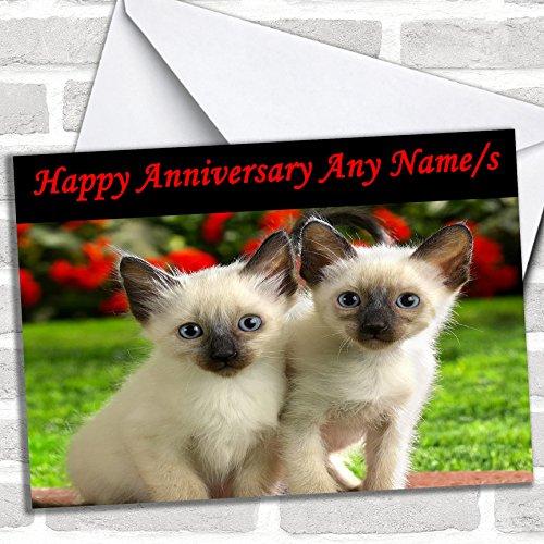 Leuke Kittens verjaardagskaart met envelop, kan volledig gepersonaliseerd worden, snel en gratis verzonden