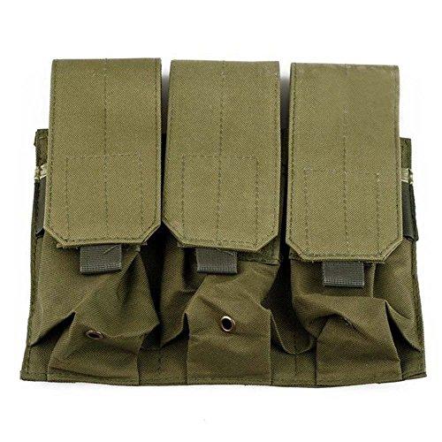 Ruifu Pochette tactique pour pistolet de poing avec motif camouflage PALS Molle AR M4 5.56/.223 (vert militaire)