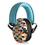 Muted Designer Hearing Protection for Infants & Kids - Adjustable Children's Ear Muffs from Toddler to Teen - Geometric Leaf