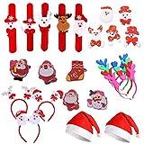 24 Pezzi Cappello di Natale, LED Antlers Fascia, Natale LED Spilla, Fascia di Natale, Cerchio Pat,...