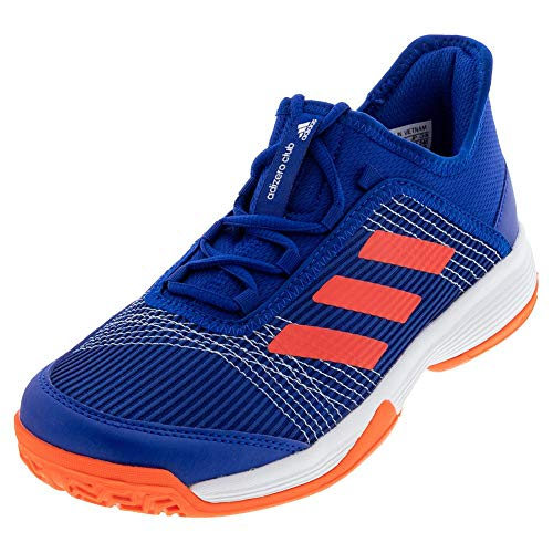 adidas Adizero Club Tennis Shoe, Royal/Solar Red/W...