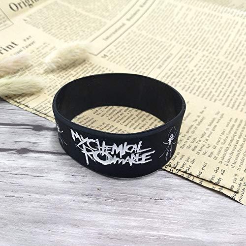 Xlin My Chemical Romance Silicone Bracelet Punk Rock Band Music Wristband Bracelet For Women Men