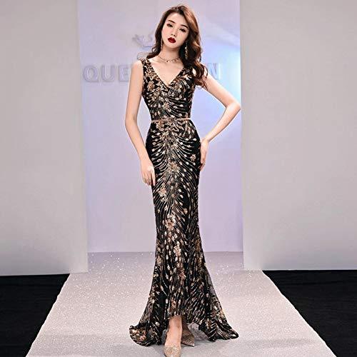 BINGQZ Party Jurk/elegante lange jurk prom party jurken formele jurk pailletten patroon eenvoudige zeemeermin avondjurk