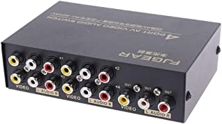 4 Port Input 1 Output Audio Video AV RCA Switch Switcher Electronic Car Accessories