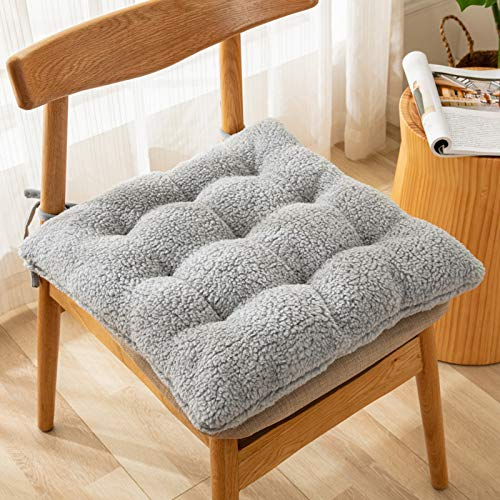 ZHXY Set de 4 Cojines,Cojines para Silla de 40 x 40 x 9 cm,Cojines para Muebles de jardín Lounge,para Interior y Exterior,Algodón Perlado,Suave al Tacto,Amarillo.