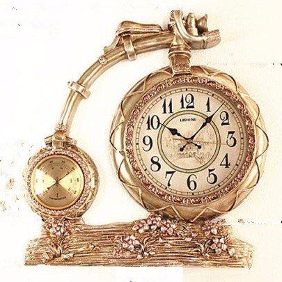 NIDAYE CNBBGJ Européenne Mute Mode rétro Tendance de Location Ornements décoratifs créatifs Horloge horloges à Manger Chambre à Coucher,Une