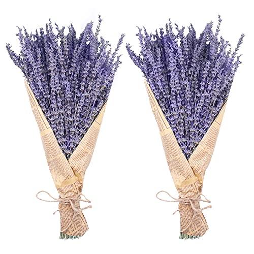 "Dried Lavender Bundles, Uieke Natural DriedLavenderFlowers 280-300 Stems 16"" for Home Weeding Decoration Flower Arrangements Home Fragrance 2 Bundles"