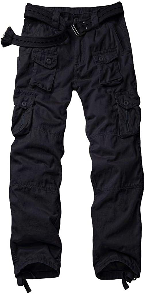 AKARMY Men's Lightweight Casual Work Pants,Relaxed Fit Tactical Army Ripstop Cargo Pants with 11 Pockets