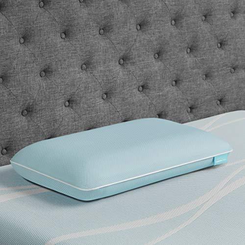 Tempur-Pedic TEMPUR-Cloud + Cooling ProLo Pillow, Memory Foam, Queen, blue