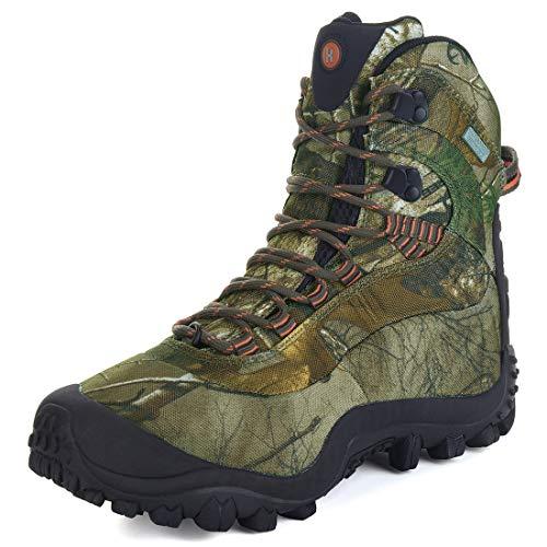 Manfen Women's Mid-Rise Waterproof Hiking Hunting Outdoor Boots Shoe Camo 9.5