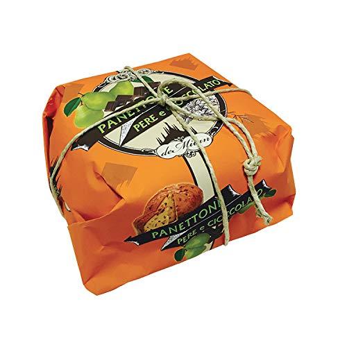 Panettone Birnen und Schokolade - De Milan - Handverpackt - 750g