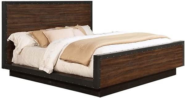 Coaster Home Furnishings Ellison Eastern King Platform Bed Vintage Bourbon And Black