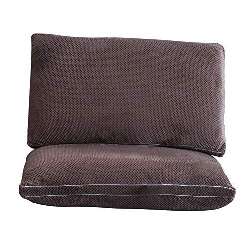 Ghaike Almohadas de algodón súper suave, lavables y hipoalergénicas, para dolores de cuello, de lado y de espalda, 45 x 75 cm