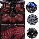 jialaiwo Alfombrillas Coches para Suzuki Kizashi 2019-2021 Alfombrilla Impermeables para Todo Clima Accesorios Interiores Alfombras Vino Tinto