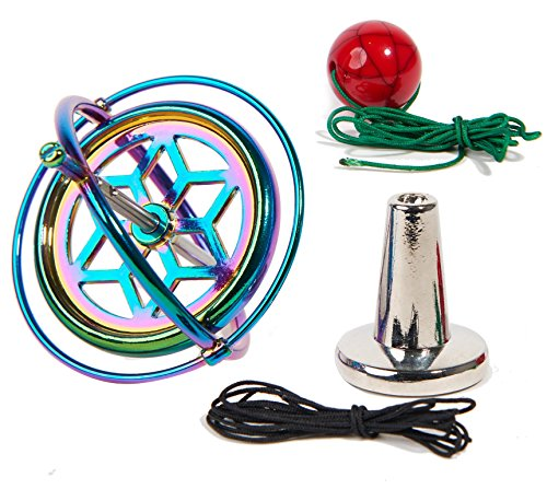 Joytech Precision Gyroscope Kill Time Metal Anti-Gravity Spinner Balance Toy Colorful JA05