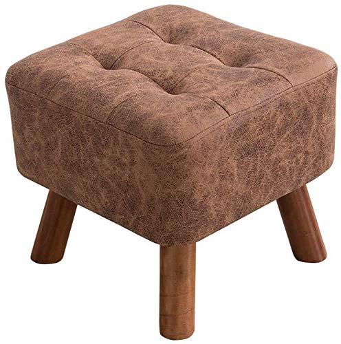 Yxsd Taburete puf taburete cambiador taburete cambiador 4 pies color, marrón, caqui (tamaño: caqui)