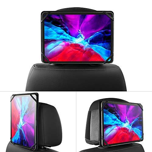 memumi Supporto per Tablet Poggiatesta Auto, Supporto per Sedile Posteriore Auto Regolabile Universale per iPad Pro 11 Tablet e Altri Tablet da 9,7-11 pollici (Black)
