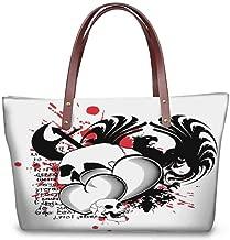 Custom Handbag Tote Shopping Bags, Double-sided printing Waterproof Women Casual Handbag Tote Shopping Bags.