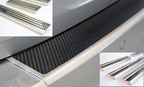 Preisvergleich Produktbild WGS Spar-Set Ladekantenschutz Einstiegsleisten Lackschutz mit ABKANTUNG Carbon auf AluNox® (2142-803)