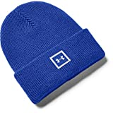 Under Armour Unisex-Adult Youth Truckstop Beanie , Emotion Blue (401)/Halo Gray , Emotion Blue (401)/Halo Gray