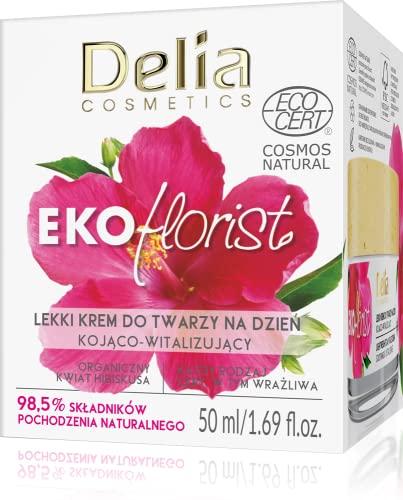 Delia Cosmetics - EKOflorist - Beruhigende vitalisierende Tagescreme - Leichte Formel - Vegane...
