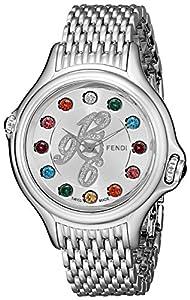 Fendi Women's F105036000D1T02 Crazy Carats Analog Display Swiss Quartz Silver Watch image