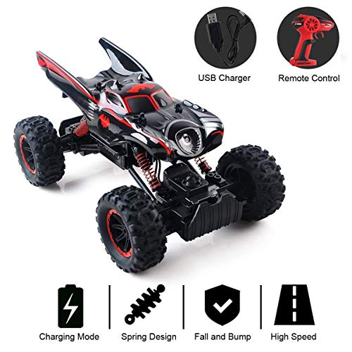 RC Auto kaufen Crawler Bild: RC Car Off Road 2 4GHz RC Trucks 1 14 4WD High Speed Electric Remote Control Racing Cars Drift SUV Red by Crazepony UK*